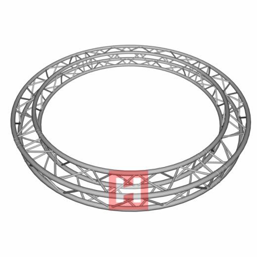 HOFKON Firkant-truss 6 m Cirkel 290-4 S-33