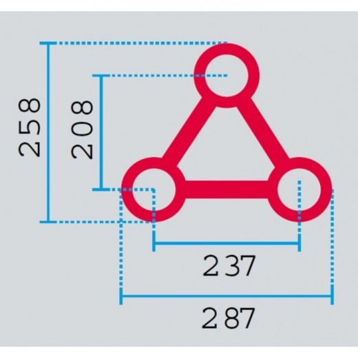 HOFKON Trekant-truss 2 m Cirkel Up 290-3 S-33
