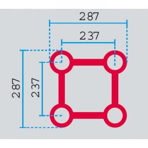 HOFKON Firkant-truss 12 m Cirkel 290-4 S-33