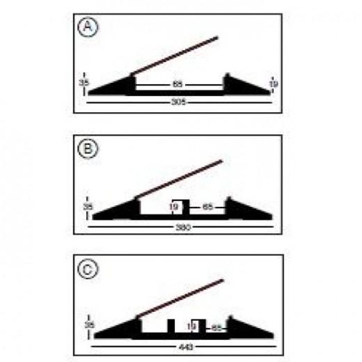 Sunstill Kabelbakke 3 kanal Black Line-32