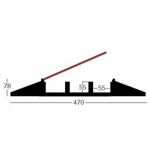 Sunstill Kabelbakke 3 kanal Red Line 45 gr. Hjørne Højre eller Venstre-33