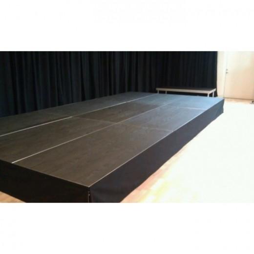 Sceneinddækning syet h60cm sort 6m-31