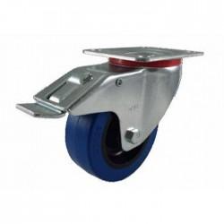 Flight Case hjul dreje/m/bremse (blå hjul)-20